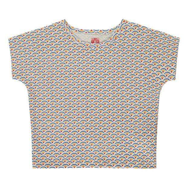 T Shirt Regenbogen Gelb Bonton Mode Kind