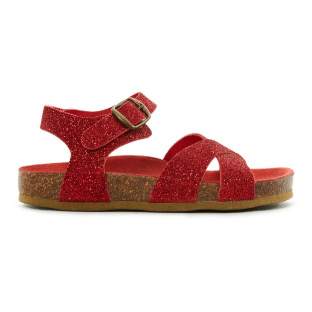cf099d51a24d8 German Glitter Leather Sandals Red Bonton Shoes Baby