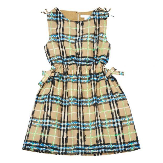 e40a99d809058 Robe Tartan Noeuds Candra Bleu Burberry Mode Enfant
