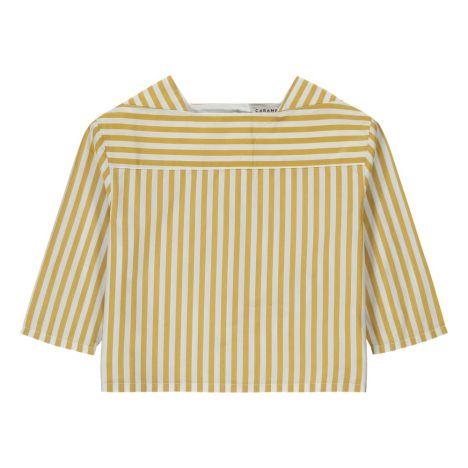 Gestreifte Bluse Inari Senffarben Caramel Mode Kind 11b7492fb3