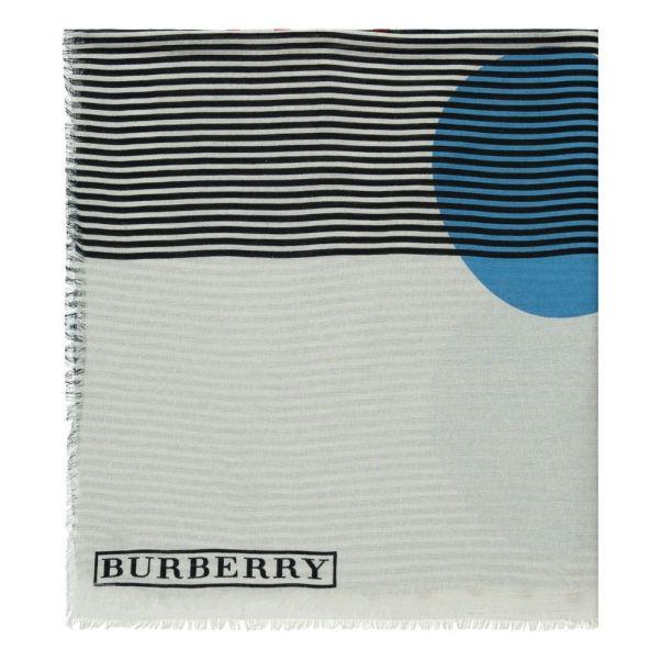 cd1e223e0bcd Foulard à Pois et Rayures Bleu Burberry Mode Adolescent , Enfant