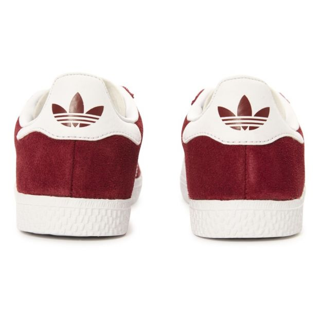 Gazelle Lace Up Suede Trainers Burgundy Adidas Shoes Teen , Baby
