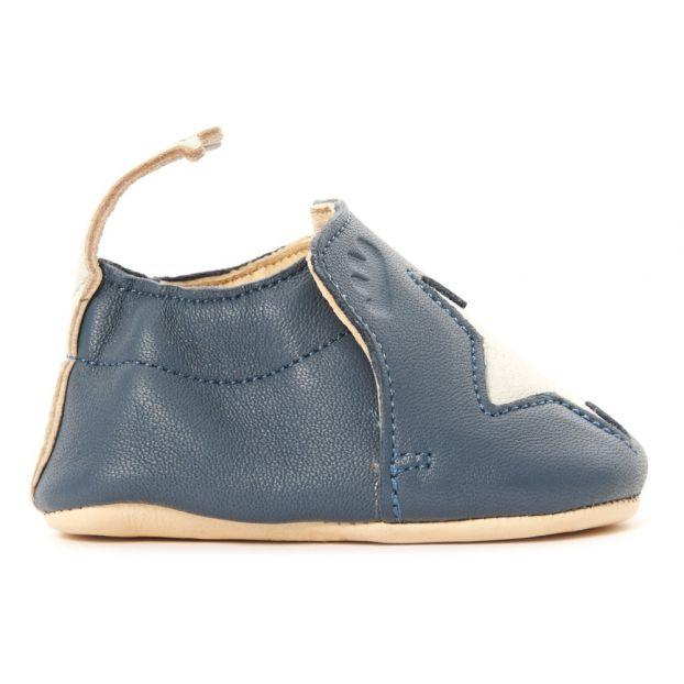 0d26fdf8cdbb39 Star Blumoo Moos Slippers Blue Easy Peasy Shoes Baby