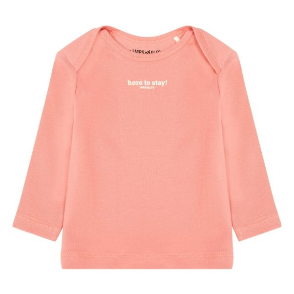 fd0a9ee1a31 Here To Stay Organic Cotton T-Shirt Pink Imps   Elfs Fashion Baby