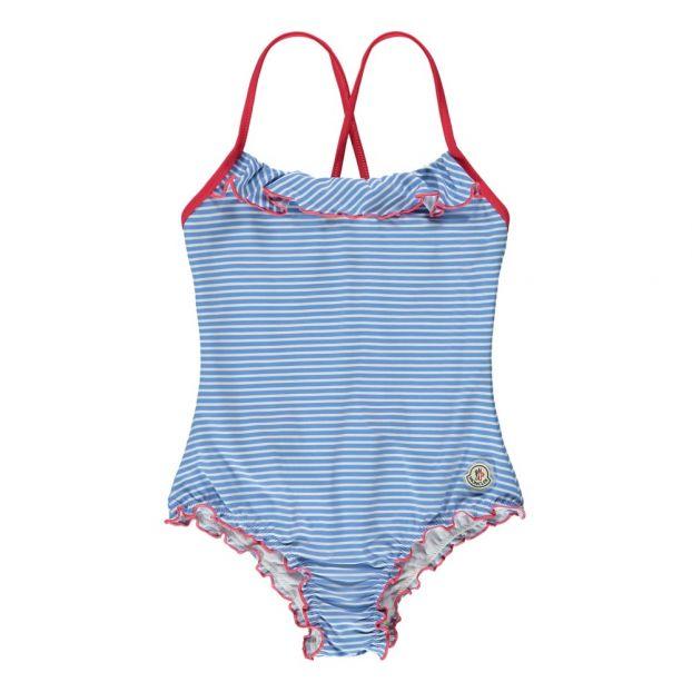 ac745c710f Striped 1 Piece Swimsuit Blue Moncler Fashion Children
