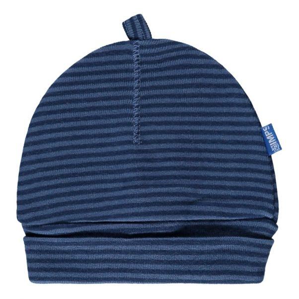 ab179f172d3 Striped Organic Cotton Hat Blue Imps   Elfs Fashion Baby