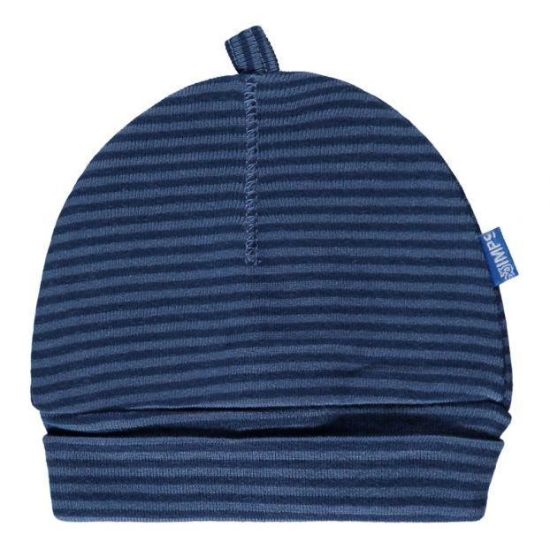f64879920b Gestreifte Mütze aus Bio-Baumwolle Blau Imps & Elfs Mode Baby