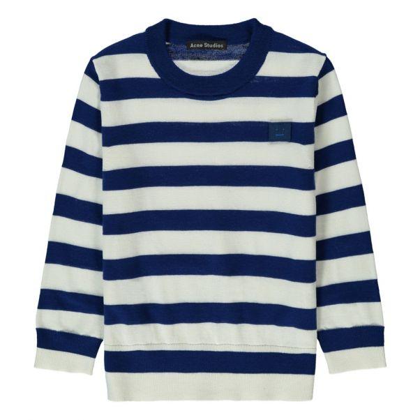 021831ee9ed3 Pull Rayé Mini Nalon Blanc Acne Studios Mode Enfant