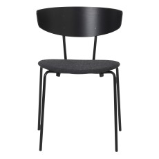 product-Ferm Living Herman Wood and Metal Padded Chair