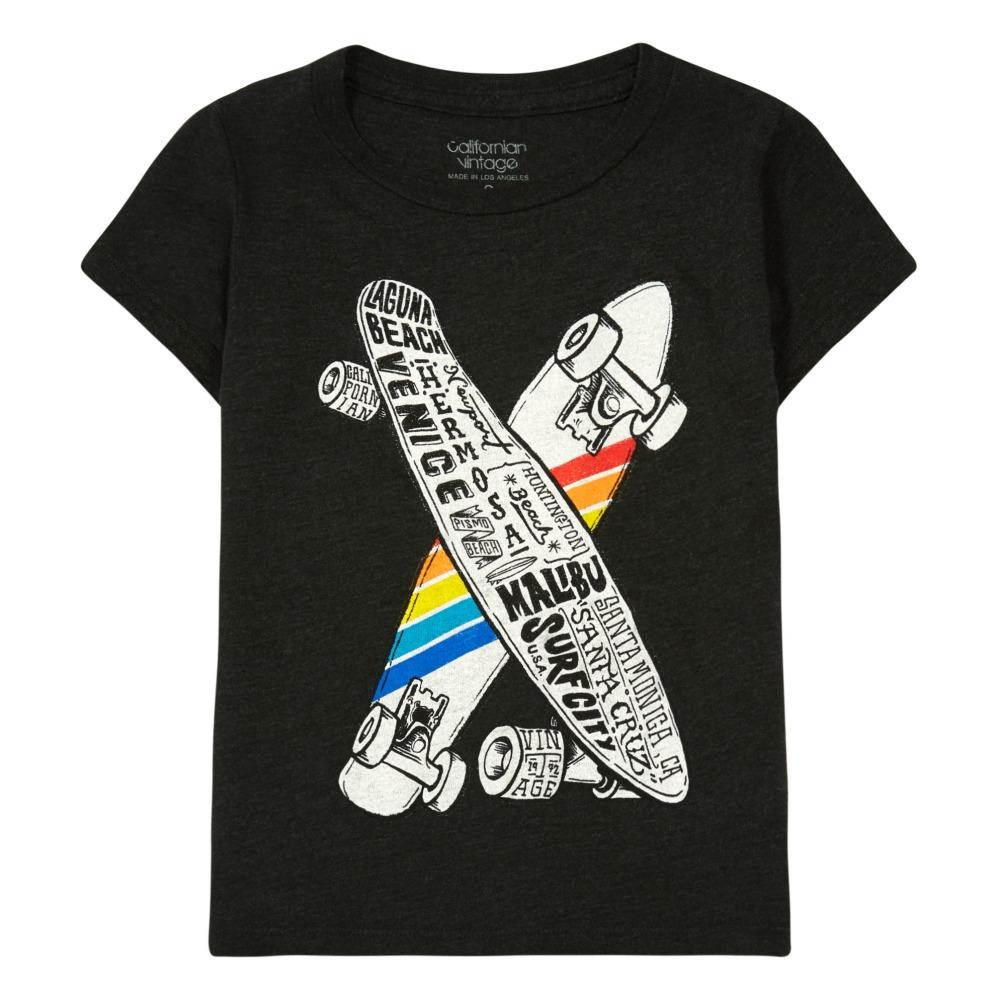 17717d6e2b5 Skateboard T-Shirt Dark grey Californian Vintage Fashion Teen