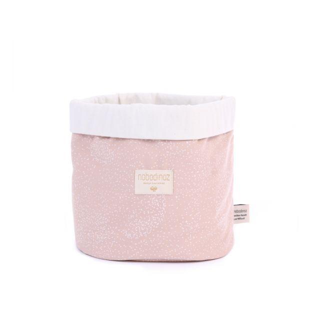 d670545841439e Bubble Panda Organic Cotton Basket Pink Nobodinoz Design Baby