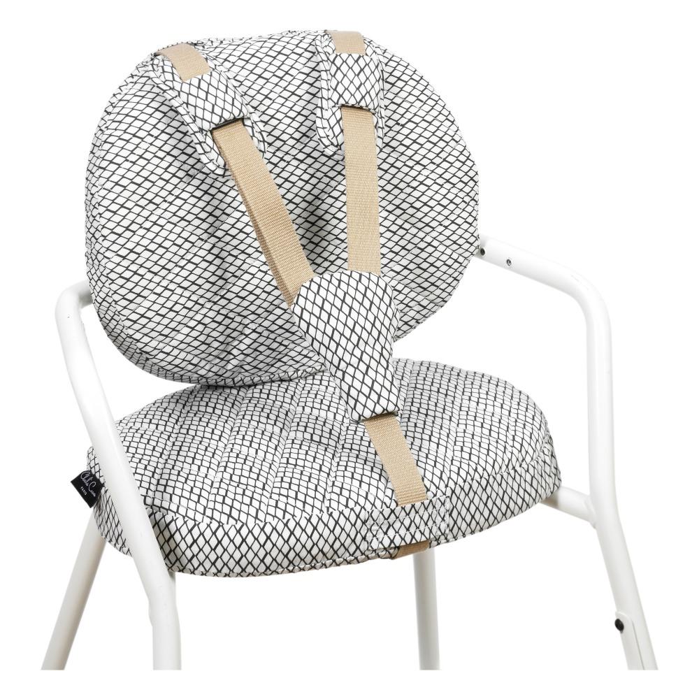 Assise en coton pour chaise Tibu Diamond Noir Charlie Crane
