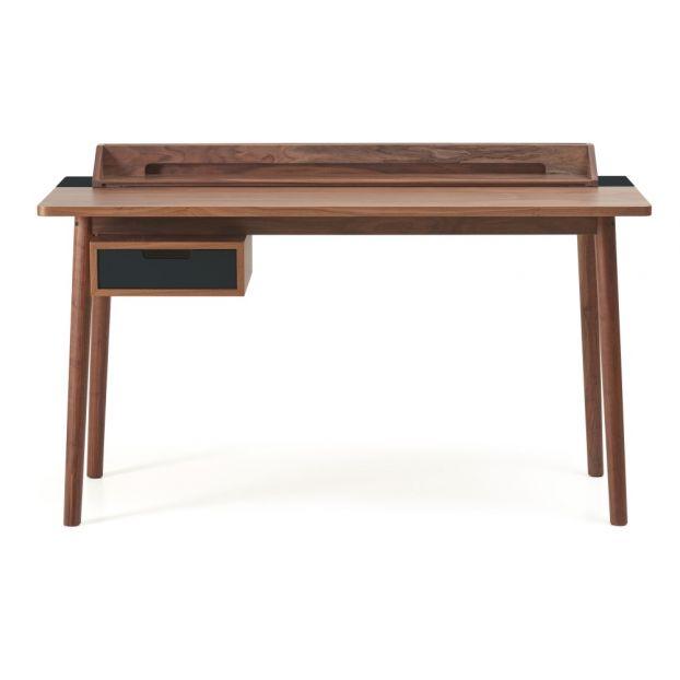 Schreibtisch Honoré Aus Nussbaum Schiefergrau Hartô Design