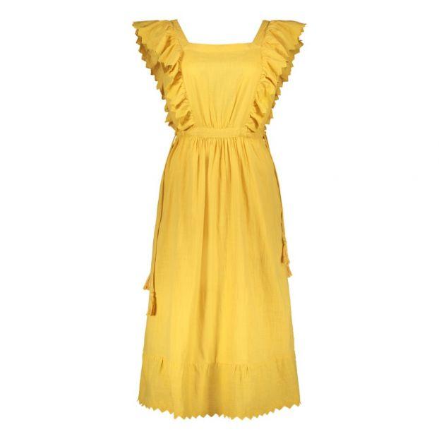 d0e3eee62d2e Royal Ruffle Embroidered Maxi Dress Ochre Leon   Harper Fashion