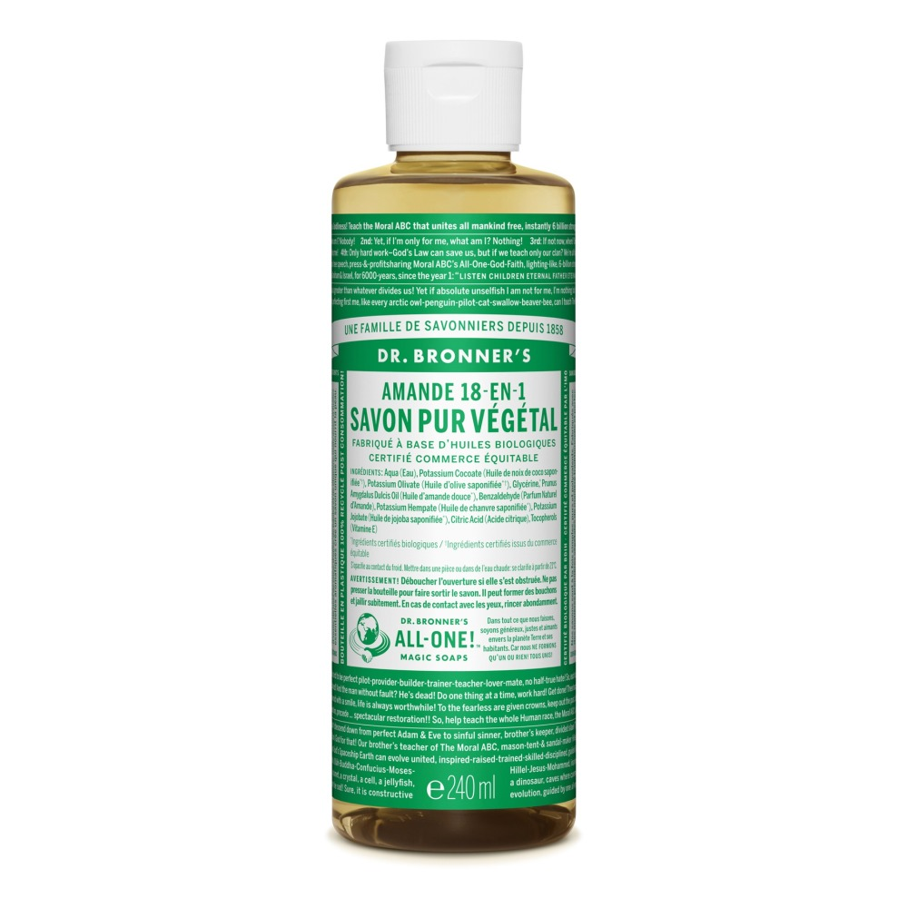 Almond Liquid Soap 240ml Dr Bronners Design Adult
