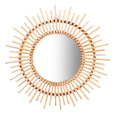 product-Klevering Bamboo Round Mirror