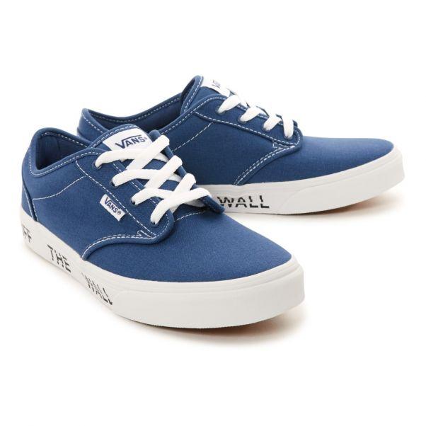 39013af5009fc Wall Bleu The Toile Atwood Semelles Vans Baskets Lacets En B1qXx0Y0