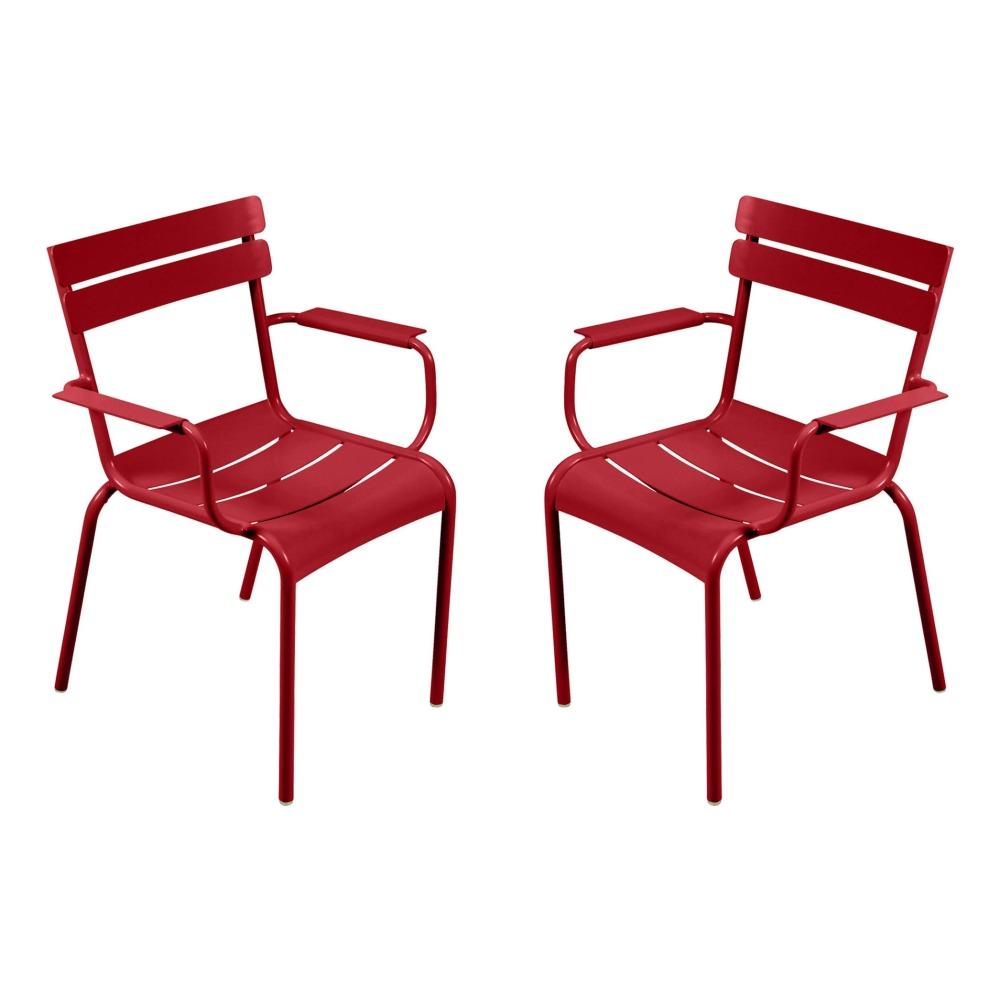 Stühle Luxembourg Aluminium 2er-Set