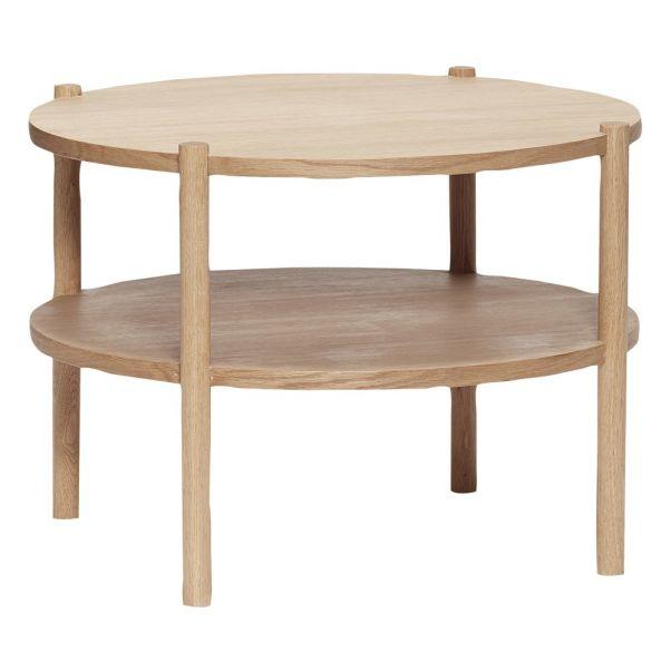 Table Basse Ronde En Chêne Naturel Hübsch Design Adulte