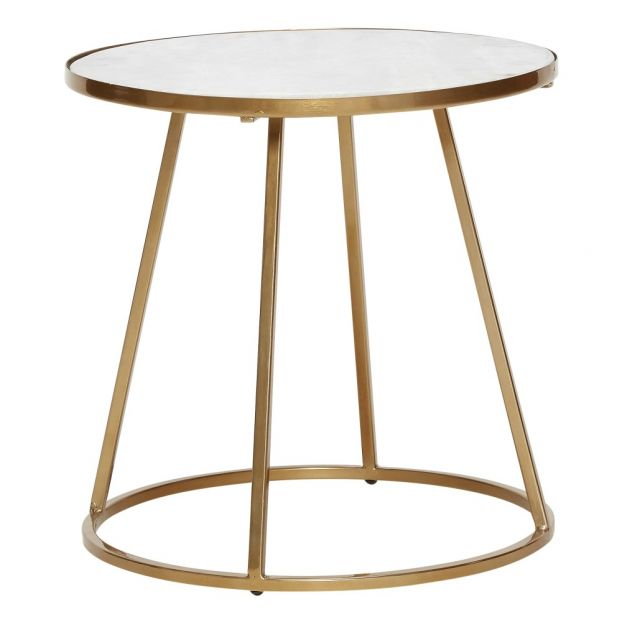43d9c2743ee Round Marble Side Table Hübsch Design Adult