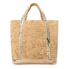 product-Vanessa Bruno Shopping Bag misura media in Rafia con Paillettes