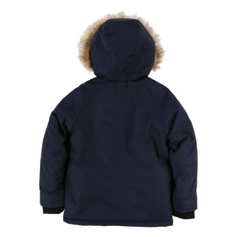 furred linen waterproof jacket midnight blue little marc jacobs