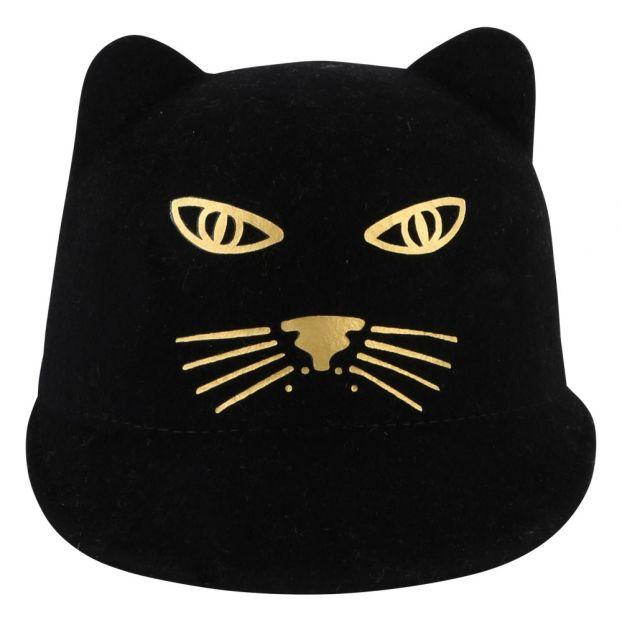 Cappello con orecchie pantera Nero Little Marc Jacobs Moda 110e78b27262