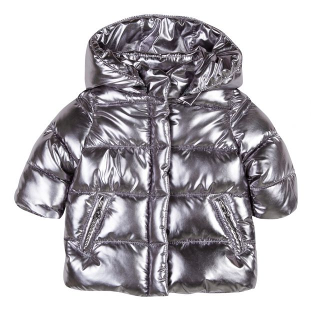 d7aff4f5b7f2 Quilted Down Jacket Silver Tartine et Chocolat Fashion Baby