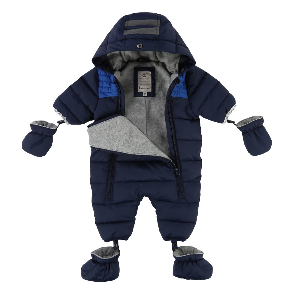 Timberland Fleece Lining Snowsuit With Removable Hoodie