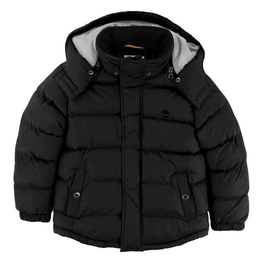 Waterproof Down Jacket With Removable Hood Black Timberland. «