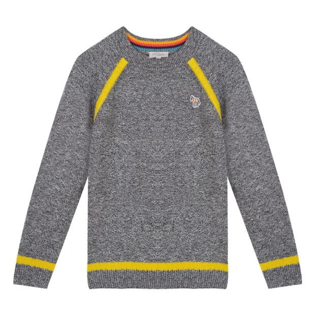 7c092194ac93 Sadio Woolen Jumper Marled charcoal grey