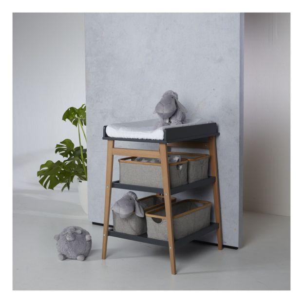 Panier De Rangement Pour Table A Langer En Coton Et Bambou