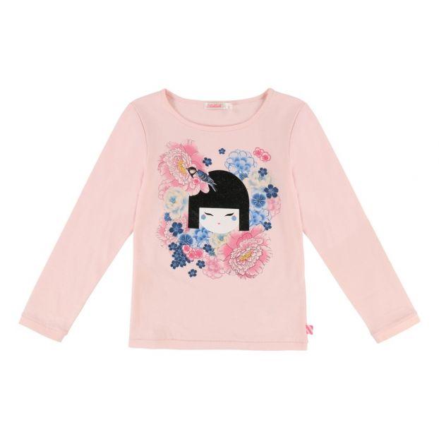 cee53780ba7e6 T-shirt Japonaise Rose pâle Billieblush Mode Enfant