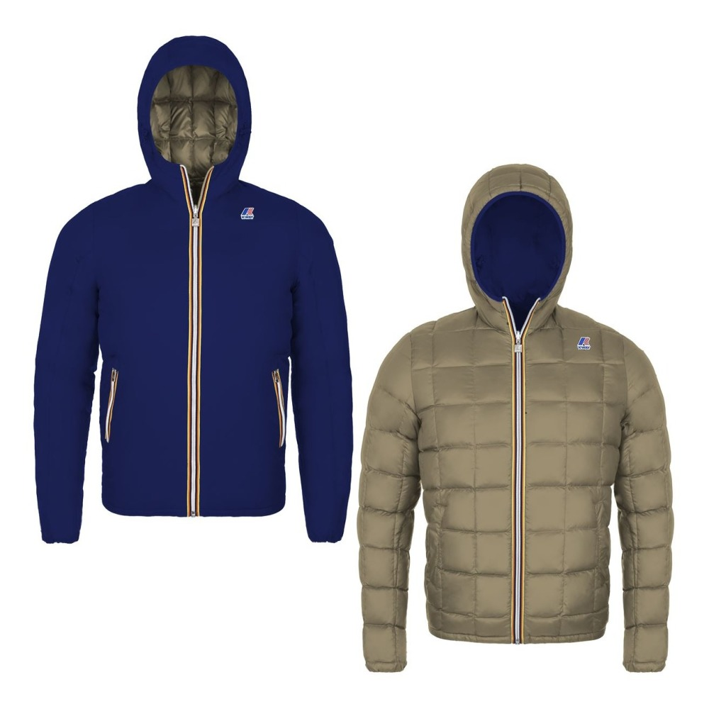 Jacques Thermo Plus Reversible Down Jacket Navy blue K-way. «