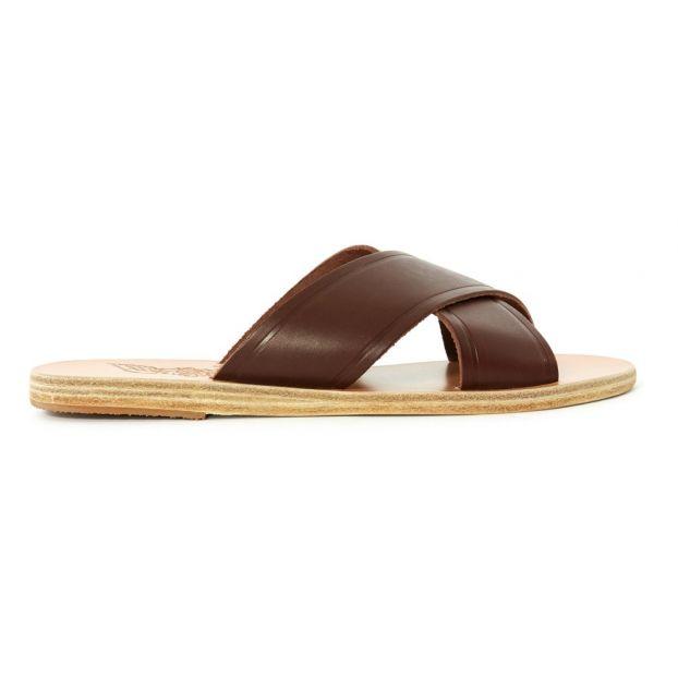 separation shoes 9a4b6 ed38e Ciabattine Incrociate in Pelle Thai Nocciola