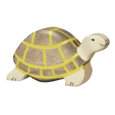 product-Holztiger Wooden Turtle Figurine