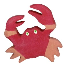 product-Holztiger Wooden Crab Figurine