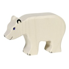 product-Holztiger Wooden Eating Polar Bear Figurine
