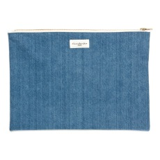 product-Rive Droite Gabrielle Recycled Denim Pouch