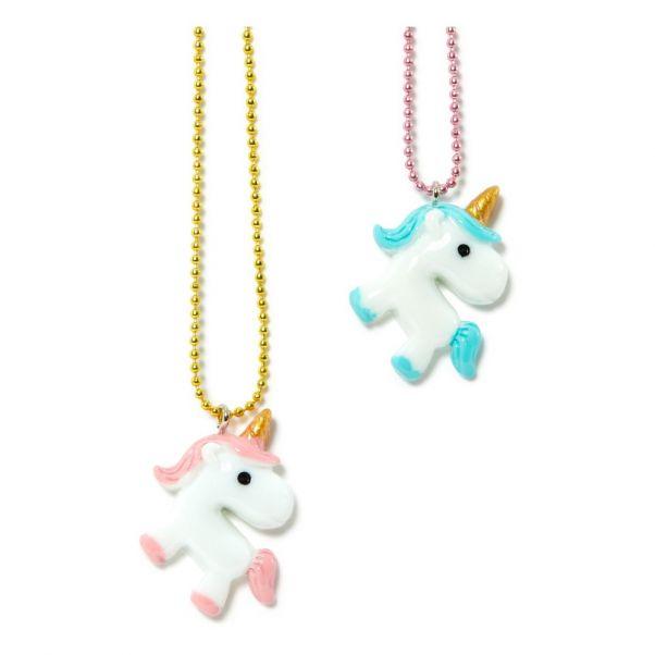 Lot De 2 Colliers Bff Licornes Blanc Pop Cutie Mode Enfant