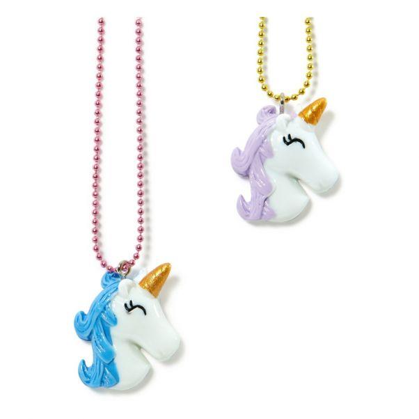 Lot De 2 Colliers Bff Tetes Licornes Blanc Pop Cutie Mode Enfant