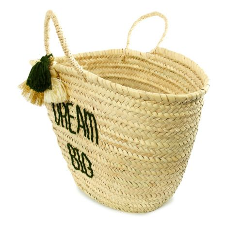 Smallable x Rose in April Dream Adult embroidered Basket with Pompoms-product