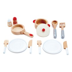 product-Hape Wooden Dining Doll's Set - 13 Pieces