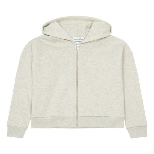 Lauren Zipped Hoodie  Heather Grey by Smallable