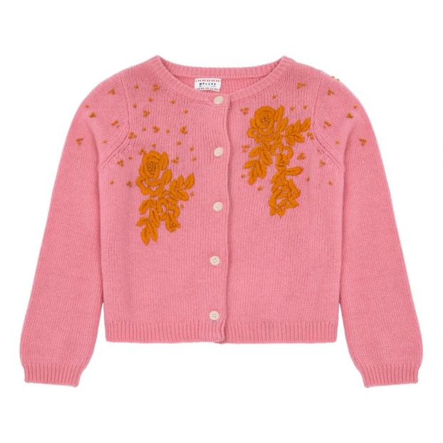 a82a0bc280e Isolde Wool and Cashmere Cardigan Pink