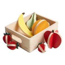 product-Flexa Play Wooden Fruit Basket - 8 Pieces