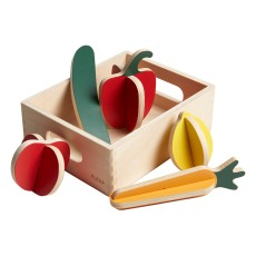 product-Flexa Play Wooden vegetable Basket - 6 Pieces