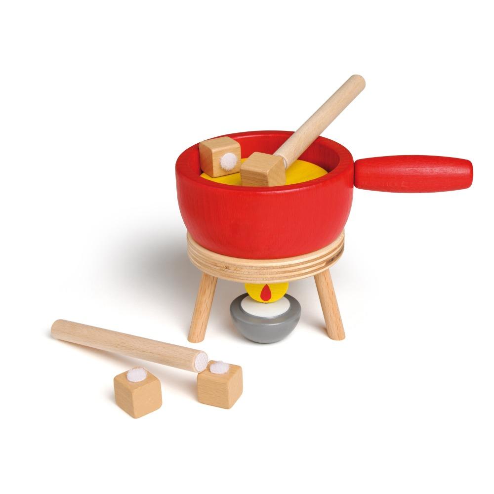 Erzi - Set à fondue de fromage en bois - Multicolore