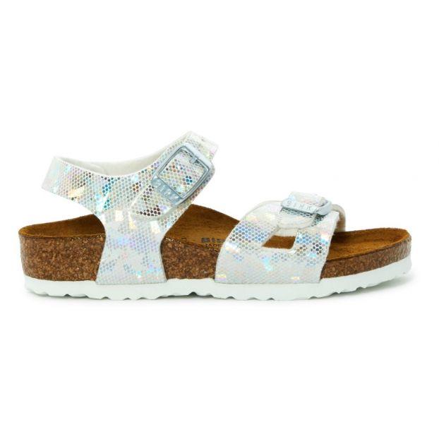 f06e5e83c95bba Rio Holographic Sandals Silver Birkenstock Shoes Children