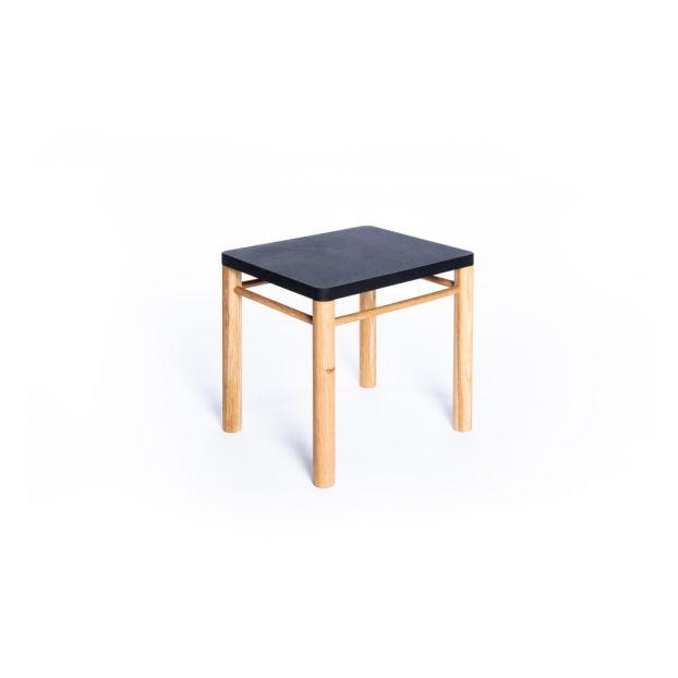 Tabouret Ajustable Félix Inspiré Montessori Noir Coclico Design